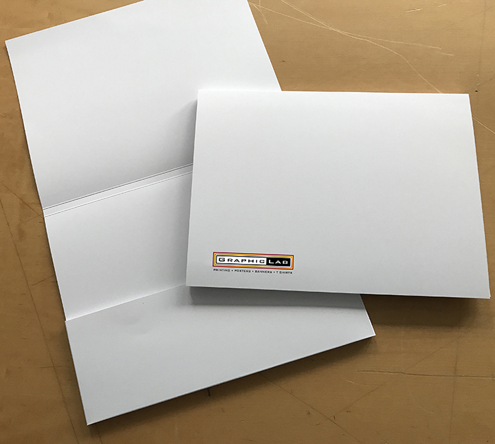 Landscaped presentation folder