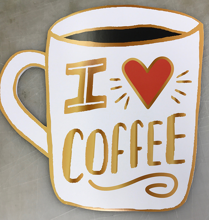 Coffee mug Poster shape-cut