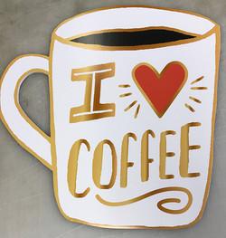 Coffee mug Poster shape-cut