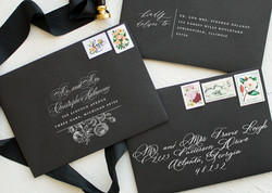 Black Envelope White ink