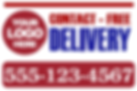 Contact_free_delivery_sign.png Covid19 posters retail signage Coronovirus posters floor graphics