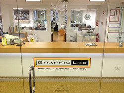 Entrance to Graphic Lab Printing
