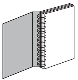 Graphic Lab Concealed Wire-O Binding great for presentations