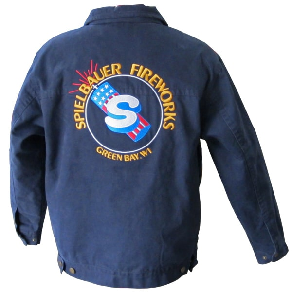 Embroidered jacket retail store