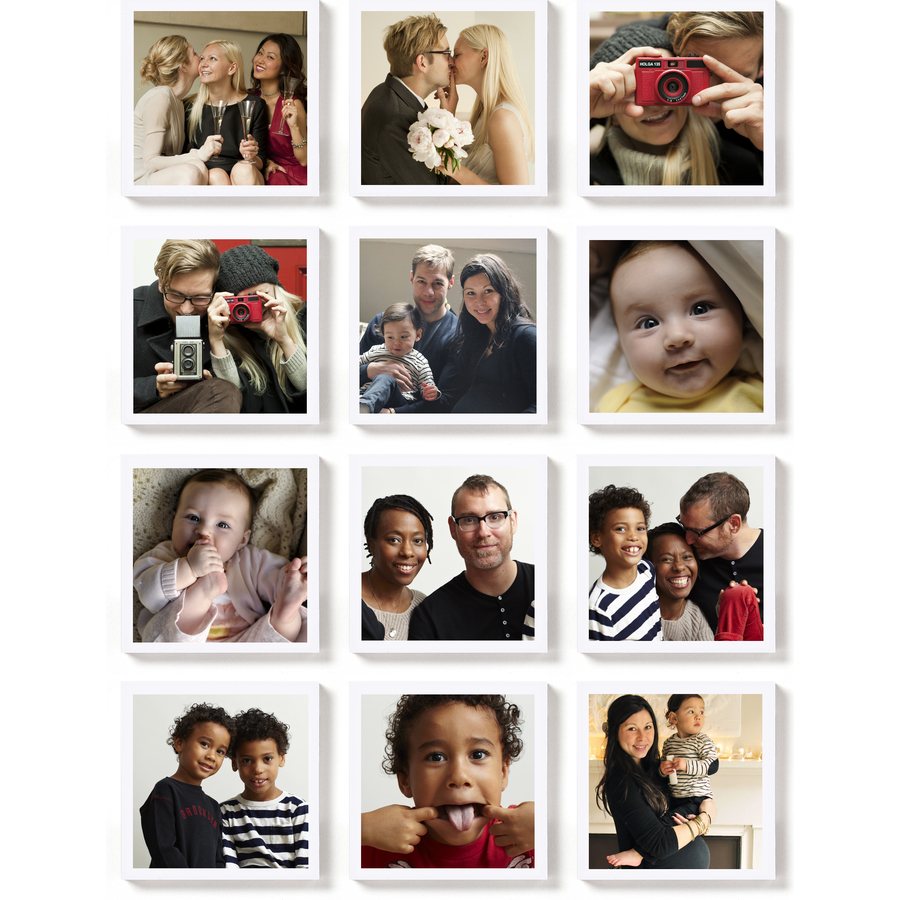 Magnetic photo sheet with adhesive