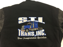 Embroidered jacket trucking company