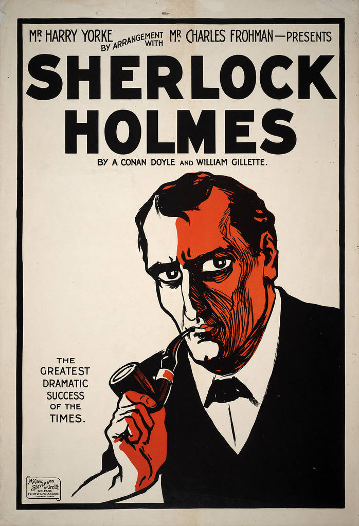 Sherlock Holmes Theater poster print