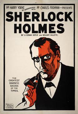 Sherlock Holmes Theater poster print