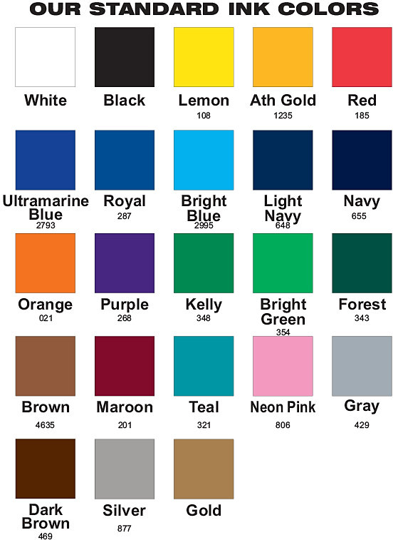 Graphic Lab Silk Screen Printing Ink Color Selection
