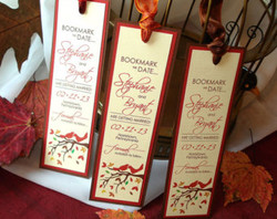 Save the date wedding bookmarks