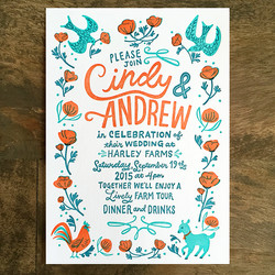 Wedding invite printing