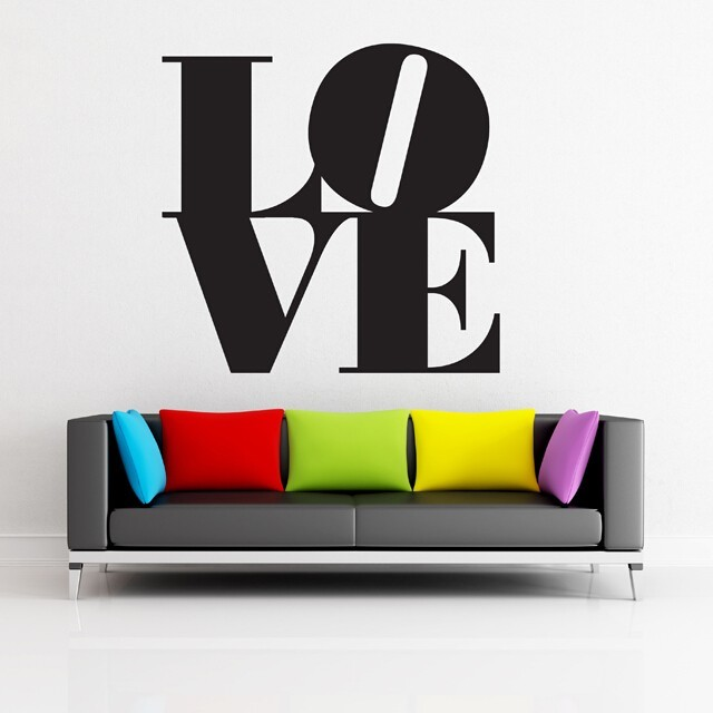 Love wall words decal Graphic lab