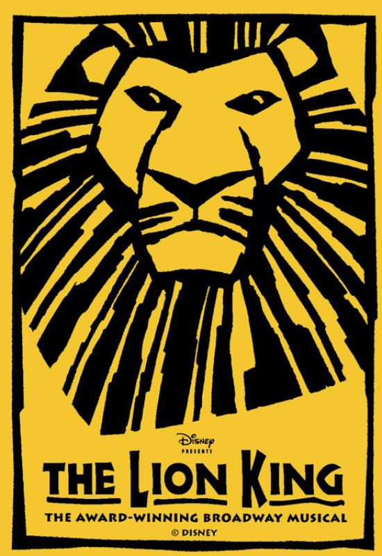 The Lion King Theater poster print
