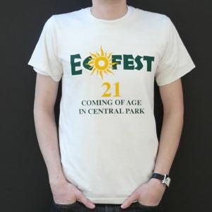 Silkscreen printed tee for Ecofest