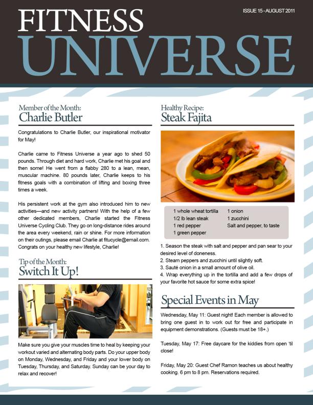 Newsletter for business