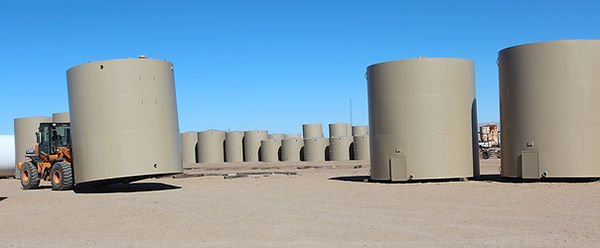 steel tanks in stock yard