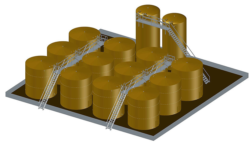 oil tank battery catwalk