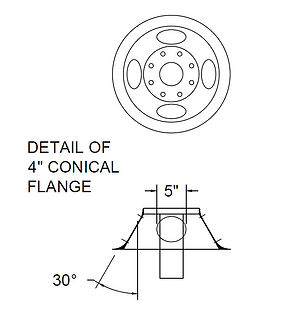 "4"" Conical Flange"