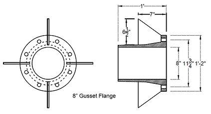 """8"""" Gusset Flange"""