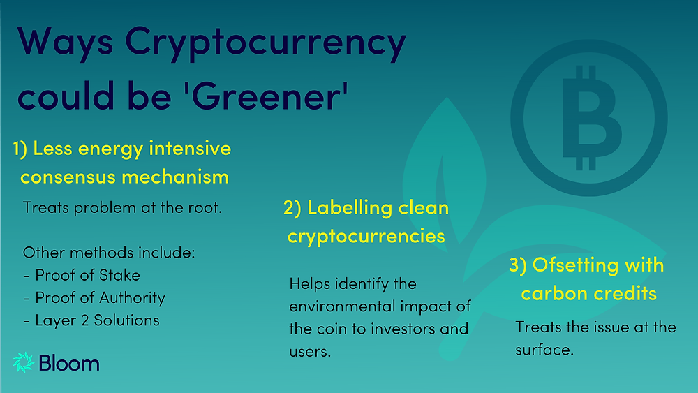 How can cryptocurrencies be greener? Bloom Impact Investing