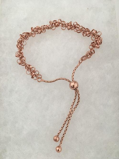 Pink Gold Shimmer Bolo Bracelet