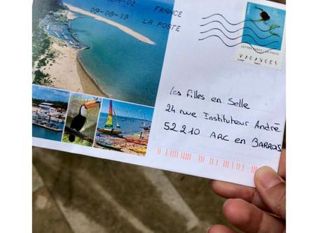 Notre premier courrier