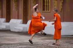 www.emanueledelbufalo.com #asia #laos #traveling #monk #play #luang_prabang #people #portrait