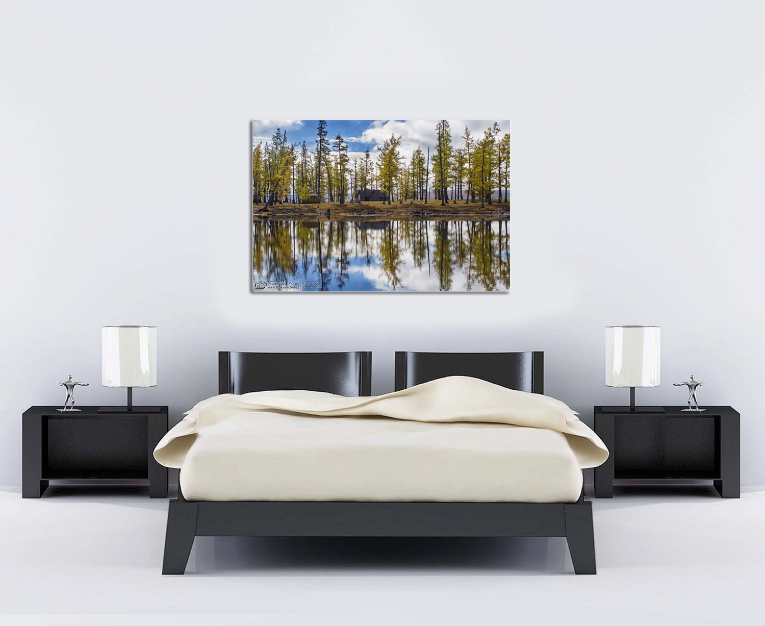 Mirror Lake Mongolia ProportionOK 2m bed 100cm photo