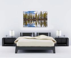 Mirror Lake Mongolia ProportionOK 2m bed 100cm photo