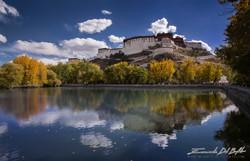 www.emanueledelbufalo.com #tibet #lhasa #potala_palace #lake #autumn #tibet #asia #travel
