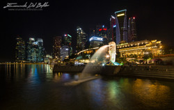 www.emanueledelbufalo.com #singapore #lion #skiline #night