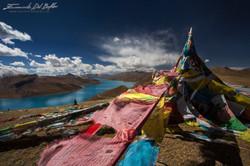 www.emanueledelbufalo.com #tibet #himalayas #flags #lake #landscape #the long term traveler