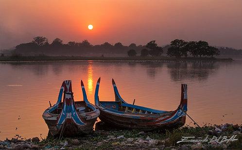 Sunset in Burma
