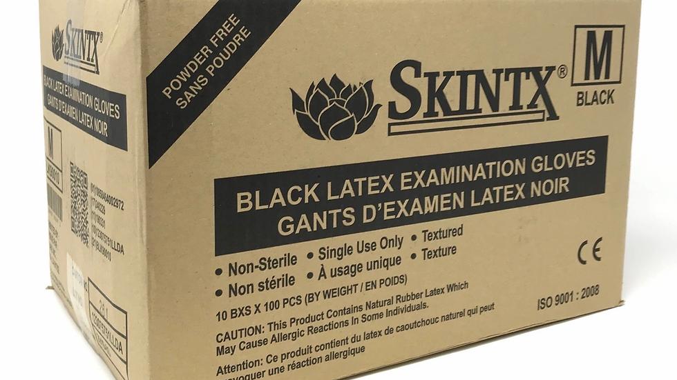 SKINTX BLACK disposable latex gloves