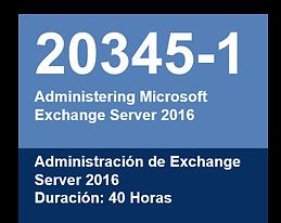 Tecnofor Peru | Cursos Microsoft | Admin Exchange 2016 | 20345-1