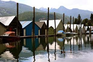 Boat Houses, Kaslo, BC, Canada