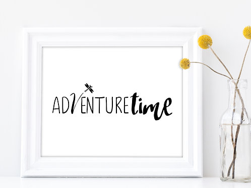 adventure time sign in white frame