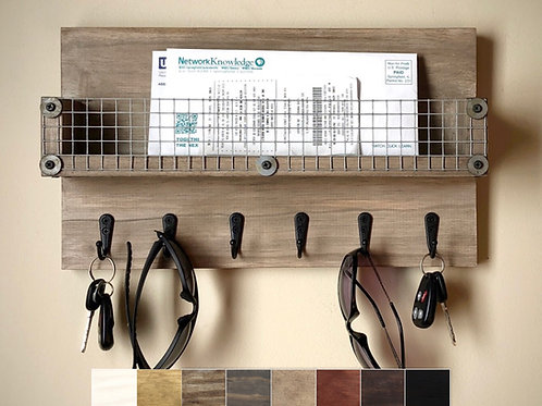 large wall organizer with squares showing color choices