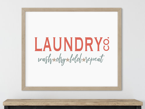 laundry co vintage style sign in wood sign