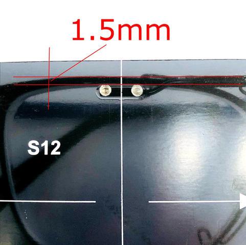 ソケット上端からメガネフレームの外周上部までの距離1.5mm(最長2.0mm)