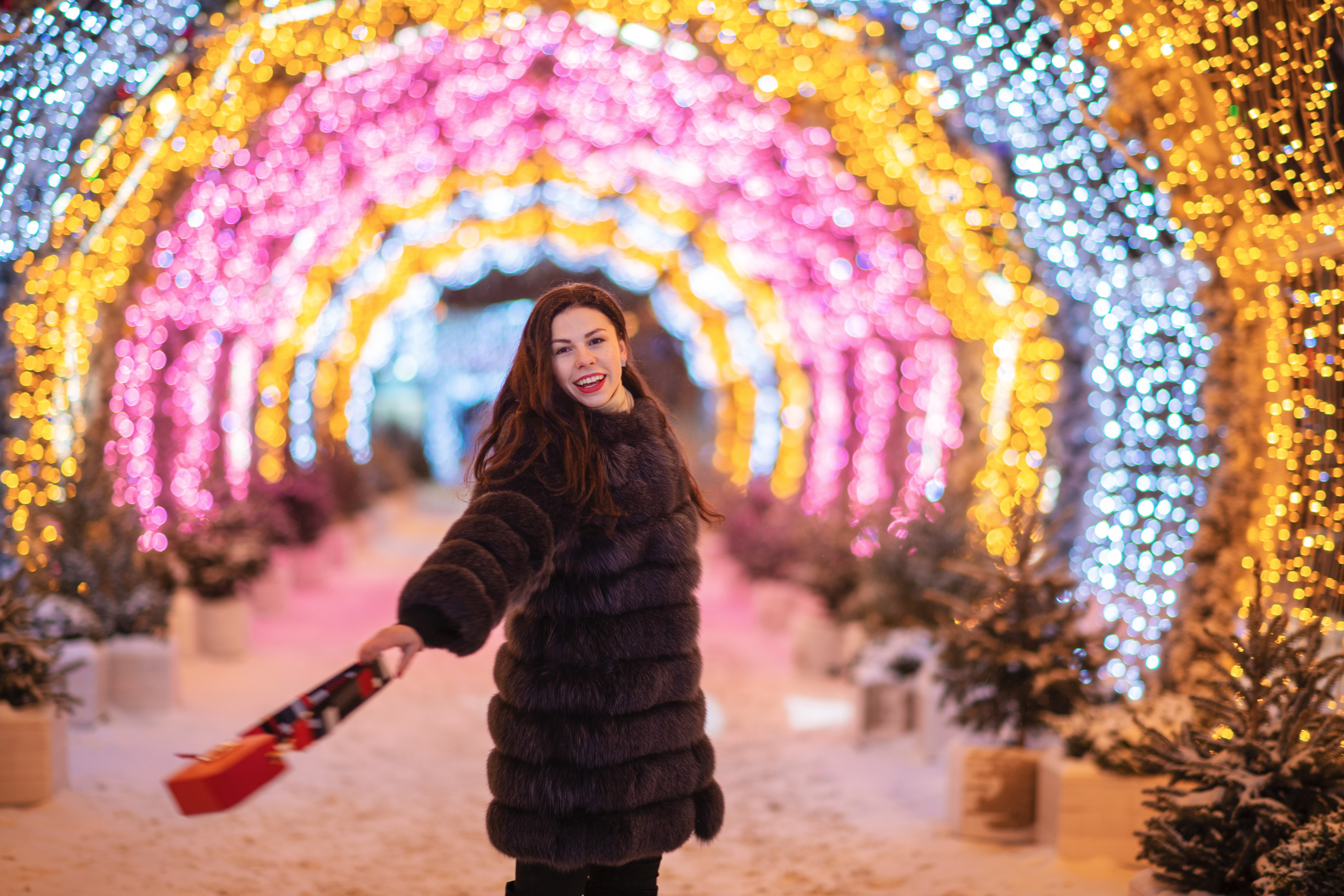 Фотосессия  в ночной Москве