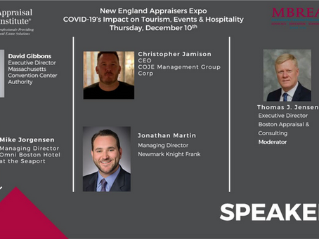 New England Appraiser's Expo COVID-19's Impact on Tourism, Events & Hospitality