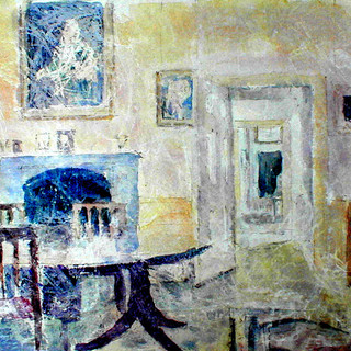 The Dining Room  Fulford House watercolo