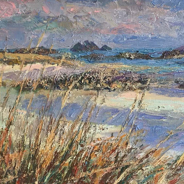 Rushy_Porth_-_Low_tide,_Oil_on_canvas_30