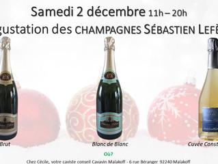 Samedi 2 : Dégustation des Champagnes Lefèvre