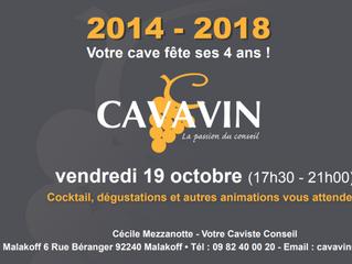 Soirée anniversaire - Cavavin Malakoff fête ses 4 ans