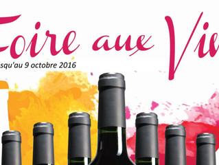 Foire aux Vins jusqu'au 9 octobre 2016