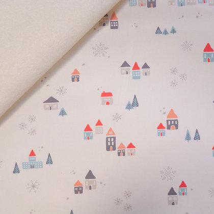 Fabric Felt :: Little Town :: Snowdrift Jolly on Natural
