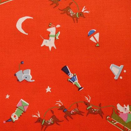 Fabric :: Way Up North :: Santa's Sleigh :: Red
