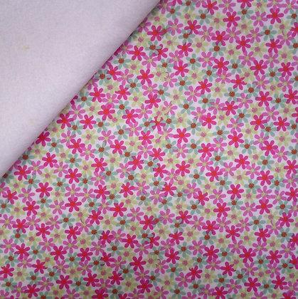 Fabric Felt :: Panda Park :: Flower Petals on White